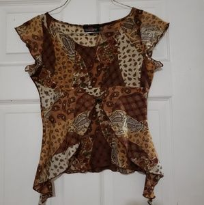 Other - Cute. Brown. Shirt. Girl size. 7/8